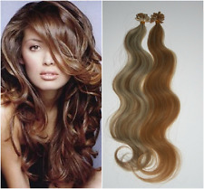 "Keratin U-Tip Hot Fusion 22"" European Remy Hair Extensions 100 Strands Any Color"
