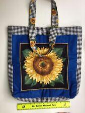 Cotton Tote Bag - Sunflower Motif