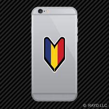 Romanian Driver Badge Cell Phone Sticker Mobile Romania ROU RO