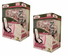 2pc KING'S CAMO PINK SHADOW CAMOUFLAGE SEAT COVERS - UNIVERSAL BUCKET