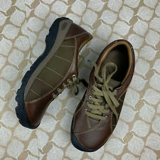 Keen Womens Sz 10 Presidio Brown Leather Shoe Lace Up Cushioned Sole