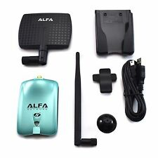 Alfa Network AWUS036NH Wireless N Adapter 2000mW + 7dBi Antenna + U-Mount