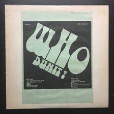 THE WHO - WHO DUNIT? LIVE - HH LABEL VINYL LP NO TMOQ TAKRL NM