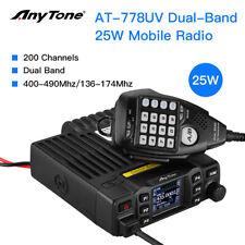 AnyTone At-778uv Vhf/uht 25w Mini Mobile Radio Ham 2 Way Transceiver W/ Speaker