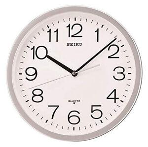 "Seiko 12"" Office Classic Numbered Wall Clock QXA014SLH"