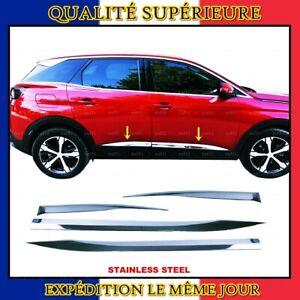 Chrome Barre de Porte latérale 4 pcs INOXYDABLE pour Peugeot 3008 II 2016+