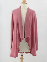 LOFT Women's Open Front Cardigan Sweater Size Small S Cascade Waterfall Pink