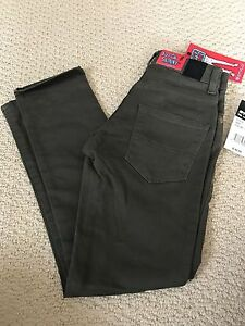 NWT Boy's Stylo Olive Green Denim Classic Super Skinny Stretch Jeans SIZES 14 16