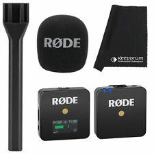 Rode Wireless GO Funk-Mikrofon-System +  Interview GO Handadapter+ Mikrofasertuc