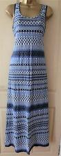 ADINI blue sleeveless scoop neck cotton jersey maxi dress size 10