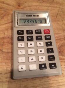 Radio Shack Vintage Calculator