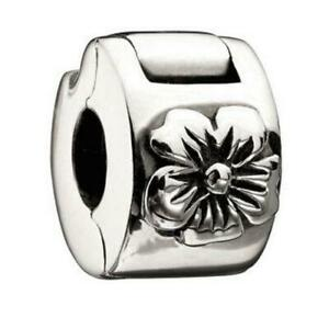 NEW Chamilia HIBISCUS Sterling 925 Silver Freedom LOCK Bead MB-28 $30 Retired