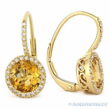 14k solid yellow gold 10x7mm teardrop faceted natural Citrine pendant 3.8tcw