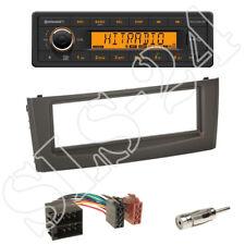 TR7412UB-OR Autoradio + Fiat grande Punto 1-DIN Blende schwarz + ISO Adapter