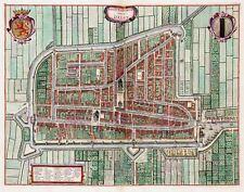 Map Van Loon Atlas Delft City Plan Old Large Canvas Art Print