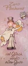 05 Zur Hochzeit Vermählung Ehe Eheschliessung Glückwunschkarte Grußkarte NEU