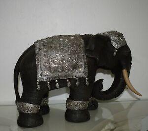 Elefant Groß 36 cm Deko Glückselefant Indische Skulptur Elefant Tierfigur