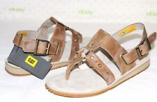 ✿ CATERPILLAR Birdsong Studded Antiqued-Latte Leather Sandals 6.5 M NEW! L@@K!
