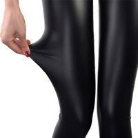 Faux Leather Leggings Women Leggins Thin Leggings Stretchy Leggins Sexy Push 9H