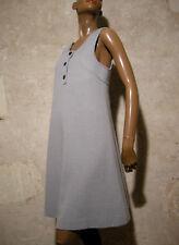 CHIC VINTAGE ROBE JERSEY CHASUBLE 1960 TRUE VTG DRESS  60s KLEID 60er ( 36/38 )