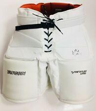 """New Vaughn Ventus Lt80 Sr goalie pants senior small 30"""" white ice hockey goal"""