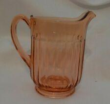 Vintage Pink Color Depression Glass Pitcher Pressed Vtg Classic Beautiful