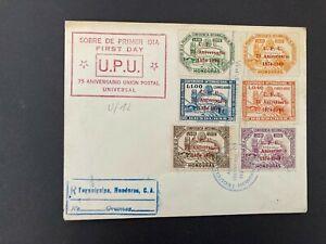 Postal History Honduras 1949 UPU FDC