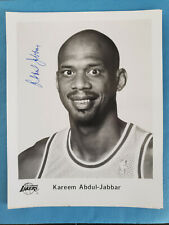 KAREEM JABBAR 8x10 AUTOGRAPHED PHOTO; NICE! NOT A PRINT