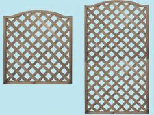 Pannelli pannello legno recinzione patio onda griglia rampicanti RETTANGOLARE