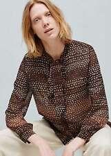 Woman bow shirt,blouse size L UK 12 new,mango,,