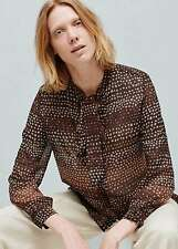 Woman lovely bow shirt,blouse size XS UK 6 new,mango,,
