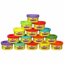 Play-Doh 15 Count 1 Ounce Cans Party Bag Dough Assorted Colors & 16 Stickers