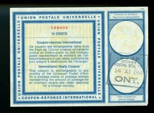 CANADA Vienna Type XIX 1967 used 15 cents  - International Reply Coupon IRC