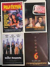 Cult Classic Movies Postcard set (Fight Club, Sixth Sense, Pulp Fiction, Usual)