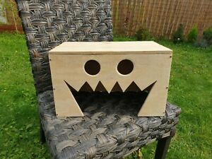 Halloween Spooky Playhouse for Cats House Hutch Tunnel Shelter Hideout Hide
