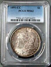 1891 CC CARSON CITY MORGAN SILVER DOLLAR $1 COIN PCGS MINT STATE 62