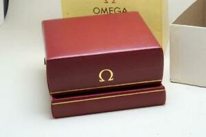 Omega Vintage Red Inner & Outer Wristwatch Box 1960 / 1970's Broken Hinges