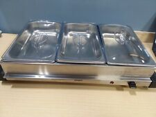 Electric 8 piece Hot Plate Triple Stainless Steel Buffet Server - Silver Oster