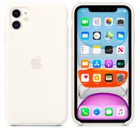 Weiß Apple Echt Original Silikon Schutz Hülle Case iPhone 11 6,1″