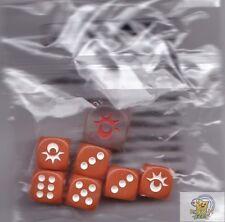Pokemon dice from Sun & Moon box Orange 12mm/16mm dice set 7 dice pieces