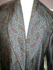 Vintage men's silky paisley robe, M & S. 38/40 inch chest. Excellent condition.