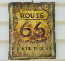 """Sign, hanging plaque, tin, the iconic """"Route 66"""", bar/garage/man cave etc decor"""