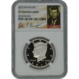 2012-S Kennedy NGC PF70 Ultra Cameo Proof Silver Half Dollar Kennedy Signature