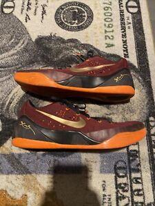 Nike Kobe 9 IX EM Low Deep Garnet 646701-678 Basketball Shoe Mens Sz 13 Red
