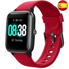 YONMIG Reloj Inteligente Mujer y Hombre, Smartwatch Impermeable IP68 Rojo (Rojo)
