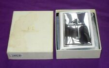 YEAR 2009 LOVELY SOLID STERLING SILVER & WHITE LEATHER BIBLE IN ITS BOX
