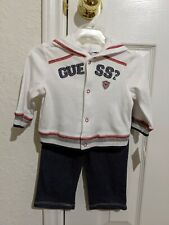 Guess Baby Boys 2 Piece Long Sleeve & Pants Suit Size 6-9 Months NWT