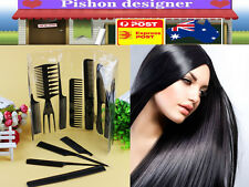 10X Beauty Salon Hair Styling Hairdressing Plastic Barbers Brush Combs Brand