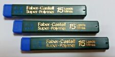 3x15=45 FABER-CASTELL SUPER POLYMER REFILL LEADS FOR MECHANICAL PENCIL 0.7mm 4H