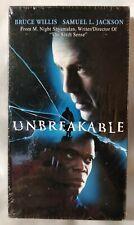Sealed Unbreakable Bruce Willis Samuel Jackson Vhs 2001 Pre Glass